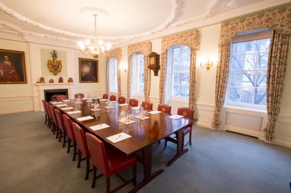 Dining Room set for a boardroom meeting