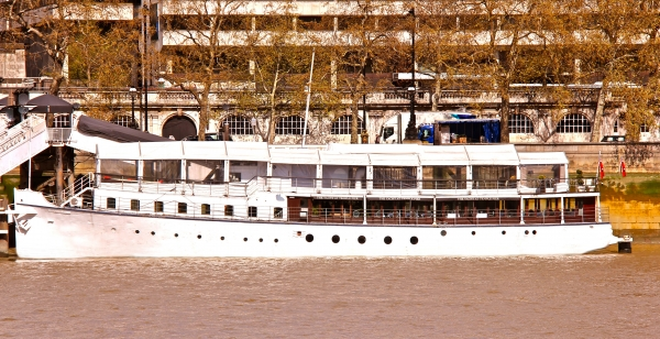 The Yacht London on the Thames